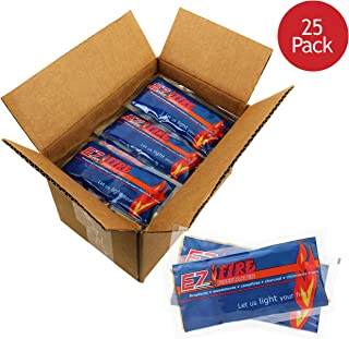 EZ FIRE FIRESTARTER Gel Packets Great for Campfires, Backyard Barbecues & Any Indoor or Outdoor Fireplace!