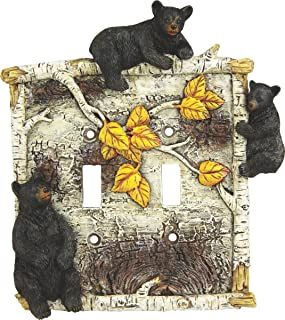 River's Edge Products Birch Bear Double Switch Cover