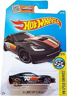 Hot Wheels 2016 HW Speed Graphics '14 Corvette Stingray 180/250, Black