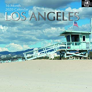 2020 Wall Calendar - Los Angeles Calendar, 12 x 12 Inch Monthly View, 16-Month, Travel and Destination Theme, Includes 180 Reminder Stickers