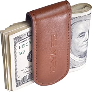 Leather Money Clip - Strong Magnets Holds 30 banknotes - for Men - Cash Card Holder - Gift Box