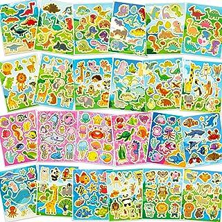 HOWAF 330+ Paillettes Autocollants Gomettes pour Enfant Garçons Artisanat Scrapbooking Bricolage Carte, Animal Marin Dinos...