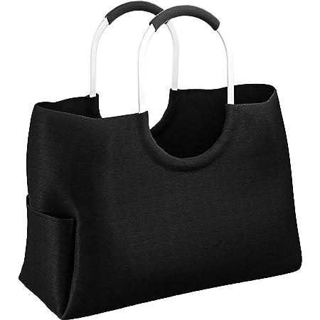 LOMOS Einkaufstasche aus wasserabweisendem Kunststoff in schwarz, Größe L