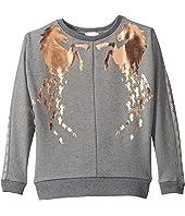 Chloe Kids - Milano Sweater w/ Copper Horses (Little Kids/Big Kids)