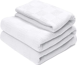 Utopia Bedding Premium Summer Cotton Blanket King White - Soft Breathable Thermal Blanket - Ideal for Layering Any Bed
