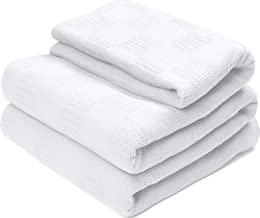 Utopia Bedding Premium Cotton Blanket King White - Soft Breathable Thermal Blanket - Ideal for Layering Any Bed