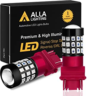 Alla Lighting 3156 3157 Red LED Bulbs Super Bright 2835 39-SMD 12V Brake Stop Turn Signal..