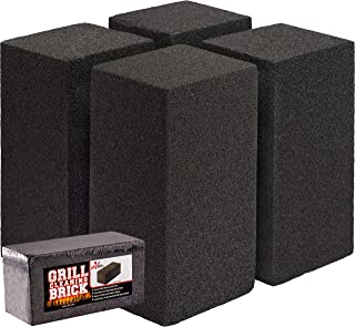 Commercial Grade Grill Cleaning Brick Bulk 4 Pack by Avant Grub. Pumice Stone Cleaner Tool Cleans and Sanitizes Restaurant Flat Top Grills or Griddles Effectively Without Harsh Chemicals or Abrasives