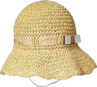 [索尼莫尼] 帽子 Sonemone 麦秆帽子 宝宝用 Scallop边缘 儿童 69487719098 麦穗色 US 6-12个月 (FREE サイズ)