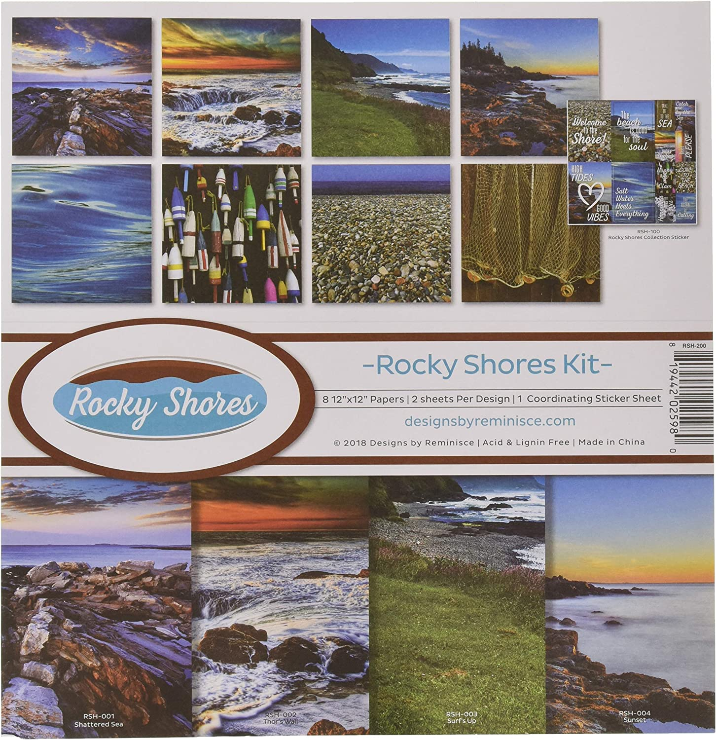 Reminisce Rocky Credence Shores Scrapbook Collection Pal Kit Denver Mall Multi Color