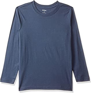 Fox Boy's Plain Regular fit Long Sleeve Top (637226_Petrol Blue 10)