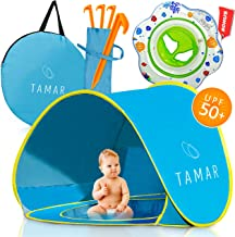 Tamar Baby Beach Tent: Toddlers and Tots Blue Pop-Up Sun Shelter with mini Pool and..