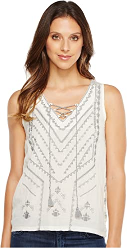 Embroidered Sweater Tank Top