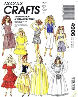 McCall's 4906 / 622 Fashion Doll's Wardrobe Sewing Pattern for 11½