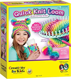 Creativity for Kids Quick Knit Loom – Make Your Own Pom Pom Hat And Accessories For Beginners (Packaging May Vary) (Renewed)