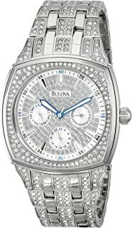 Bulova - Reloj de Hombre 96C002 de Acero Inoxidable con Cristales Swarovski