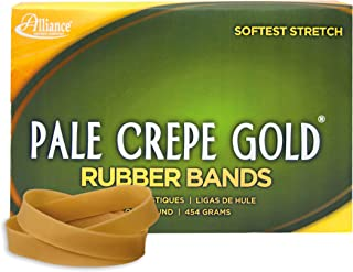 Alliance Rubber 20845 Pale Crepe Gold Rubber Bands Size #84, 1 lb Box Contains Approx. 240 Bands (3 1/2