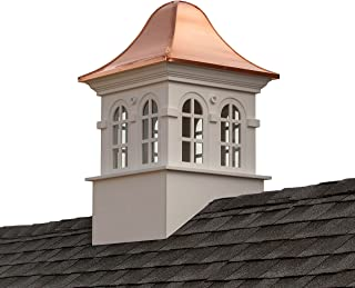 """Good Directions Smithsonian Rockville Vinyl Cupola with Copper Roof, 26"""" x 42"""""""