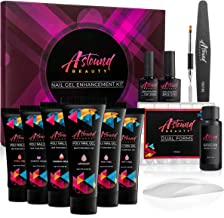 Astound Beauty Polygel Nail Kit - with LED Lamp, 2 Color Change Gel, Slip Solution - Poly Builder Gel Nail Starter Kit - Professional Nail Extension Gel All-in-One Kit