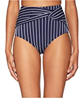 Jonathan Simkhai - Striped High-Waist Twist Bikini Bottom