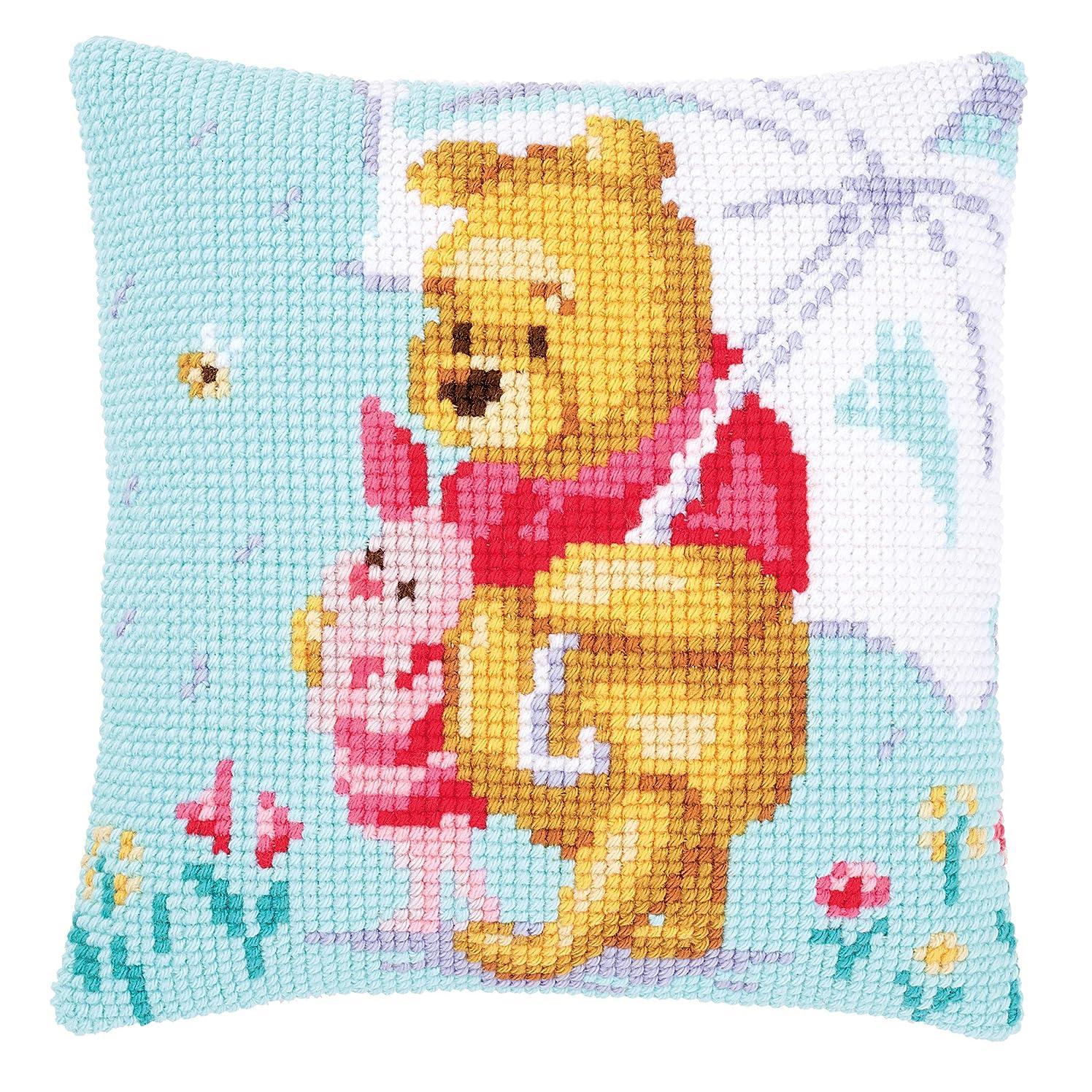 Disney Winnie The Pooh 'Winnie in The Rain' Counted Cross Stitch Kit