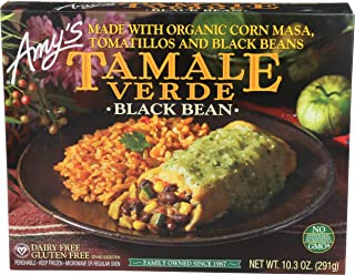 Amys Black Bean Tamale Verde, 10.3 oz