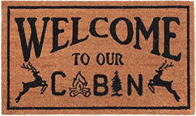 IH CASADECOR Coir (Welcome to Our Cabin) Door mat, Multi