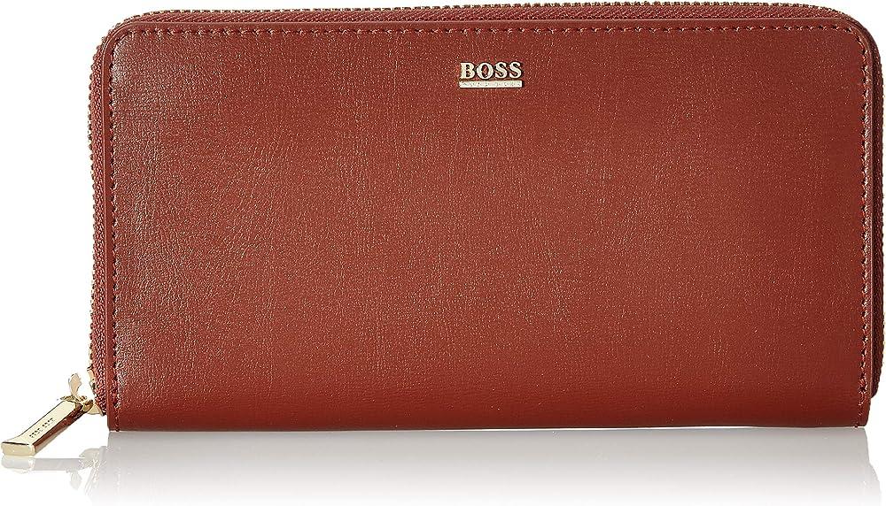 Hugo boss nathalie portafoglio porta carte di credito da donna in pelle sintetica 50441921A