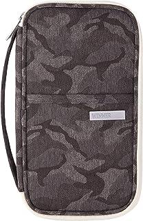 Travel Wallet,Family Passport Holder,RFID Blocking Document Organizer Bag (Gray)