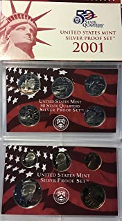 2001 S US Silver Proof Set Comes in US mint packaging Proof