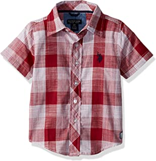 U.S. Polo Assn. Boys' Short Sleeve Classic Plaid Woven Shirt