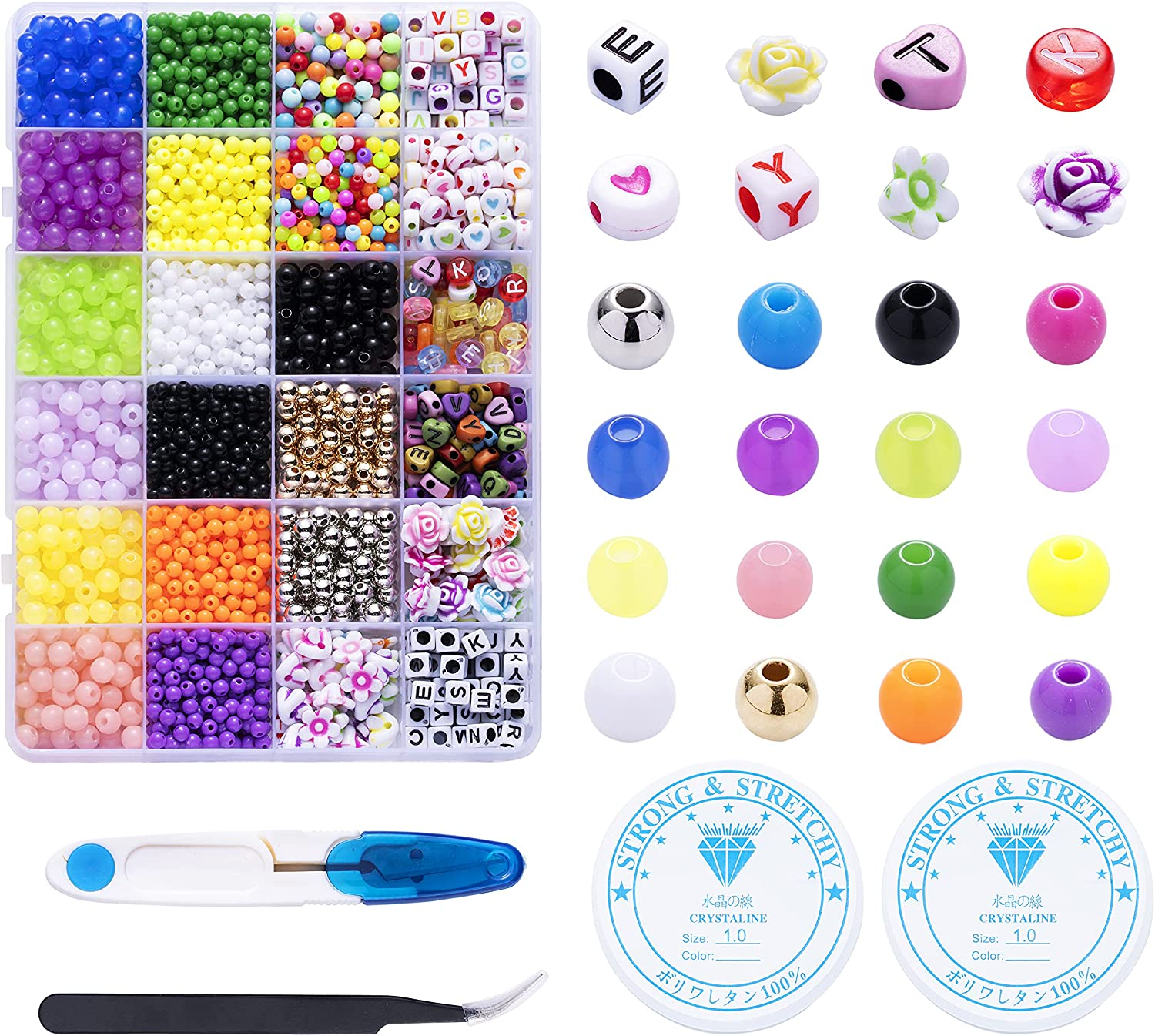 Spring new work Houda 3600PCS Bracelet Necklace Beads for Kit 4mm Max 72% OFF Making Jewelry
