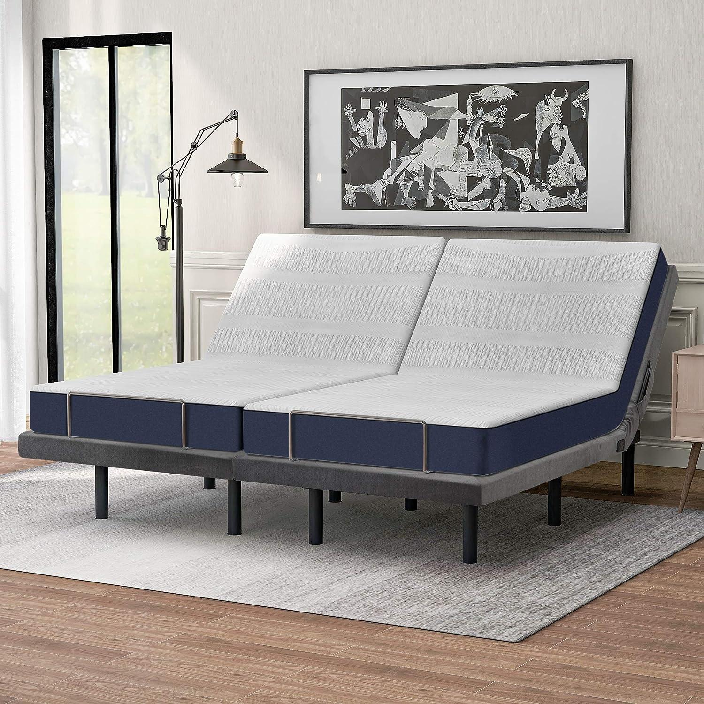 LKOER Adjustable Ergonomic Bed with Vibration 1A Massage USB Latest item 2A price
