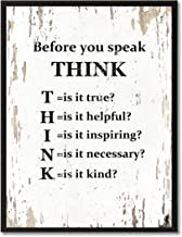 SpotColorArt Before You Before You Speak Think Handcrafted Framed Canvas Print