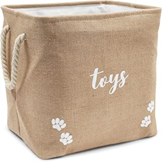 Juvale Foldable Pet Toy and Accessory Storage Bin (15 x 12 x 14 Inches)