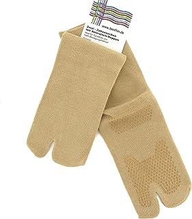 Dos – Calcetines de cinco dedos con antideslizante – Noppen, Nude, en m (34 – 37/38) o L (39/40 – 44/45)