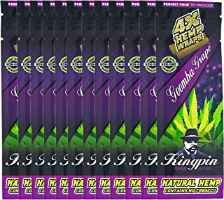 Kingpin Goomba Grape Hemp Wraps - 12 Packs (48 Total Wraps)