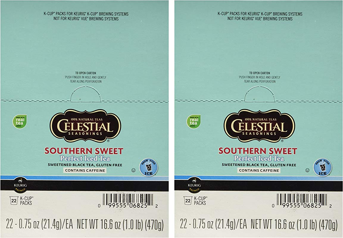 Celestial Seasonings Southern Sweet Tea 44 K CUPS For Keurig Brewers
