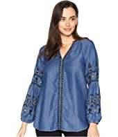 Brynn Embroidered Sleeve Blouse