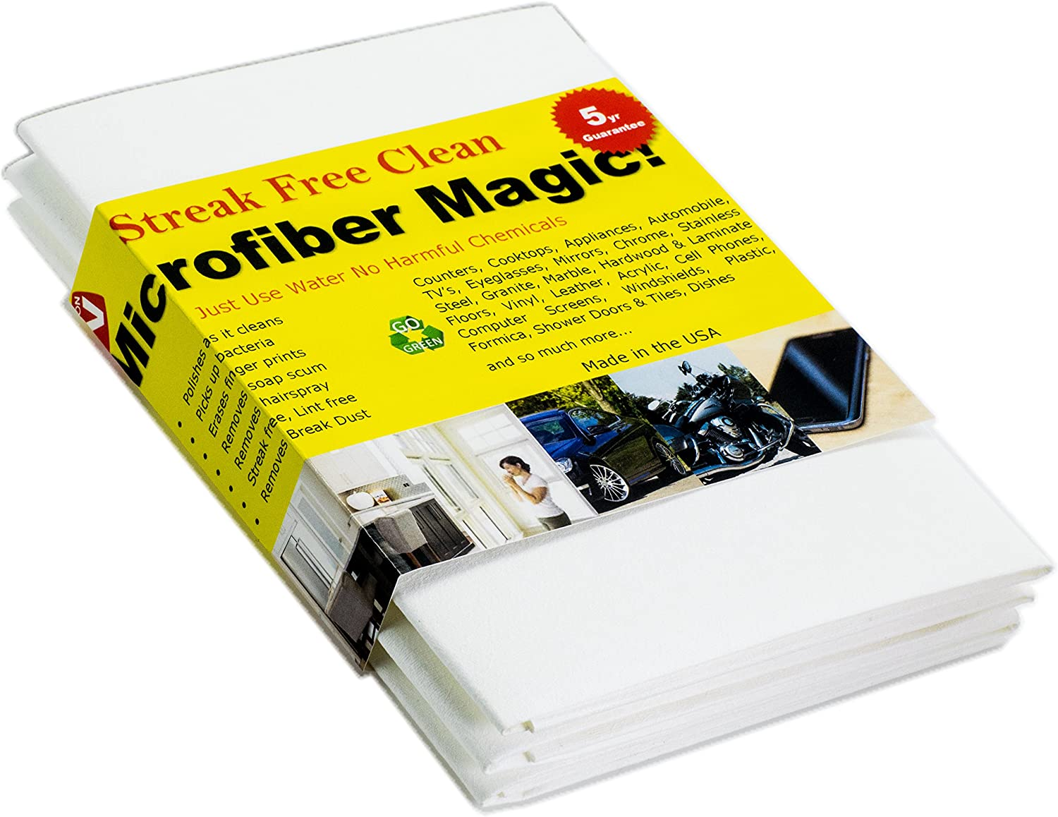 free Microfiber Magic Streak Free Cloth 3 Surface with low-pricing Any Pack Clean