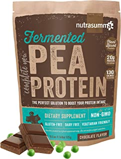1.16 lbs 100% Pea Protein Powder from North American Farms, Plant Protein Powder Fermented Chocolate(Non-GMO, Gluten Free, Vegan Friendly)