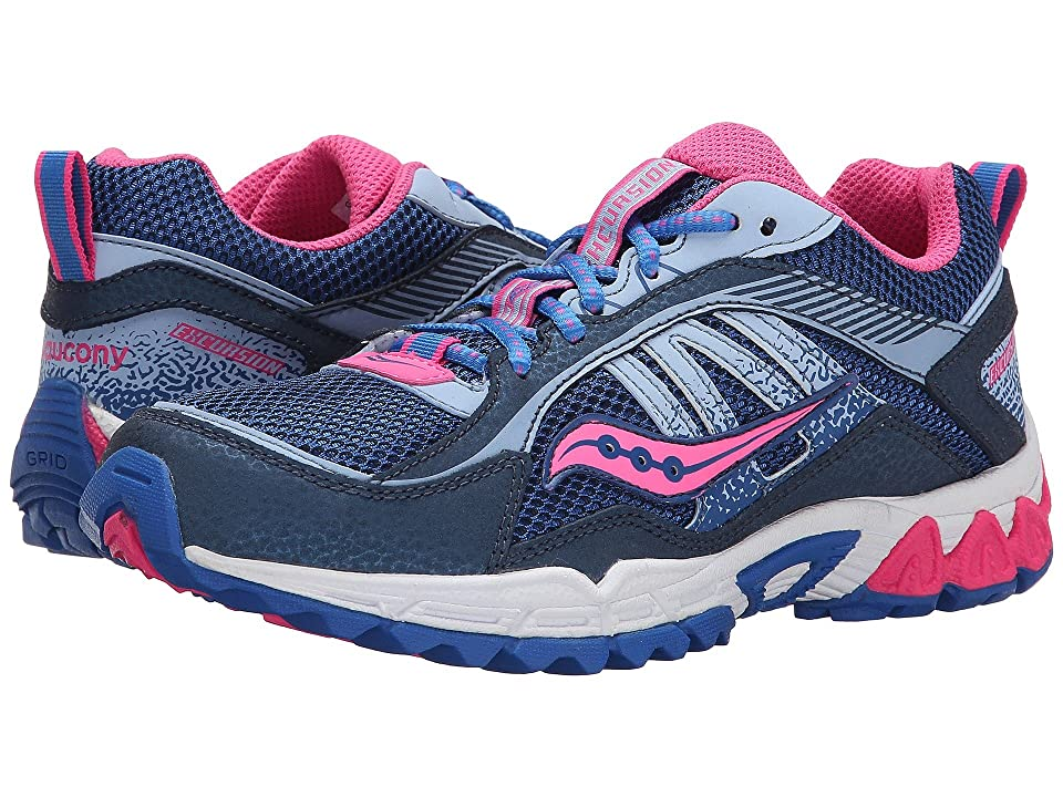 Saucony Kids Excursion (Little Kid/Big Kid) (Navy/Blue/Pink) Girls Shoes