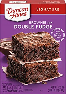 Duncan Hines Decadent Brownie Mix, Double Fudge, 17.6 oz