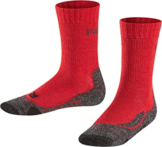1 er Pack FALKE Kinder TK2 Trekking Socken wadenlange Wandersocken mit Merinowolle Farben versch