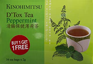 Kinohimitsu D'Tox Tea, Peppermint, 2g (Pack of 28)