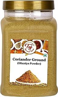 TAJ Premium Indian Coriander Powder, Dhania Powder, Ground Coriander, (14-Ounce Jar)