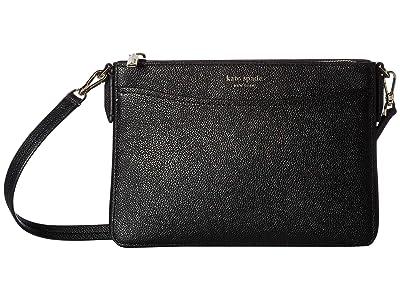 Kate Spade New York Margaux Medium Convertible Crossbody (Black) Handbags