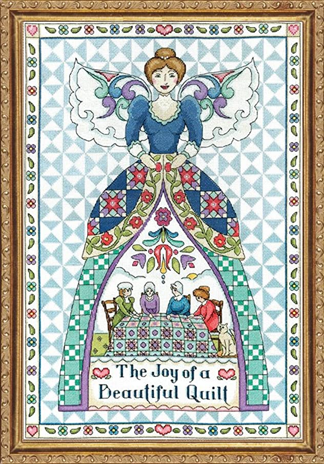 Design Works - Quilting Angel (2860) - Counted Cross Stitch Kit - 14 by 20 inches - with Gift Card