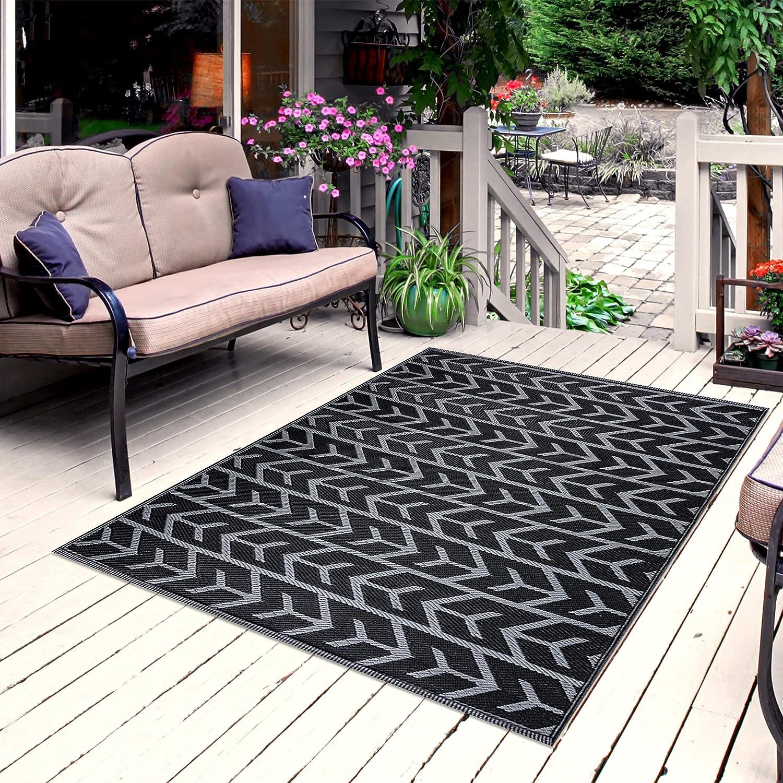 Playa Rug Topics on TV Reversible Indoor Great interest Outdoor Plastic Floor 100% Recycled