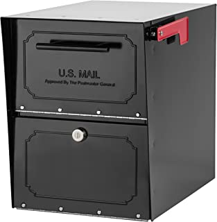 Architectural Mailboxes 6200B-10  Oasis Classic Locking Post Mount Parcel Mailbox with..